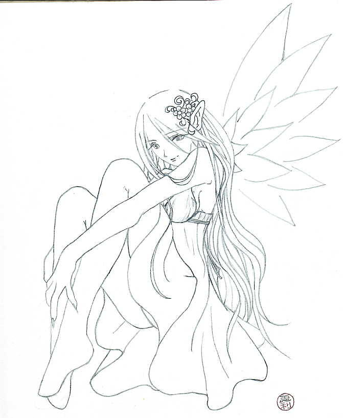 Fairy tattoo sketches and drawings