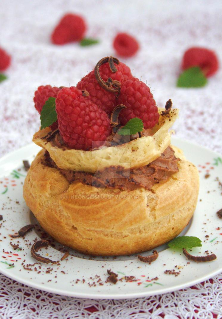 Choco'n Raspberry Puffs by neongeisha