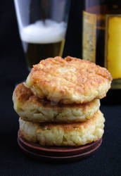 Potato and Beer Burgers