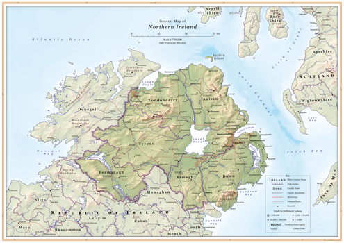 General map of Northern Ireland
