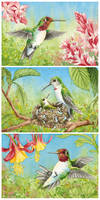 Tiny Triptych by WaryCassowary