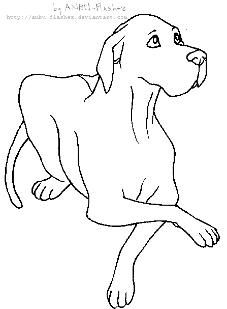 Great dane head coloring pages for Great dane coloring pages