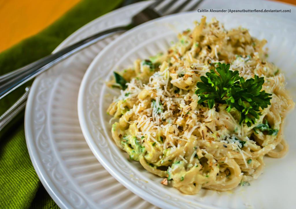 Cilantro pasta by Apeanutbutterfiend