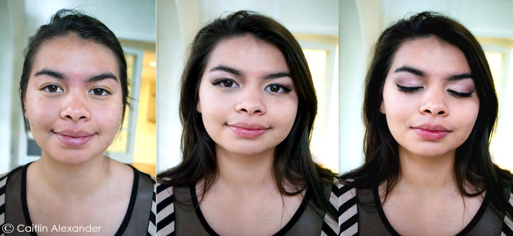 Before and after makeup- Jessica by Apeanutbutterfiend