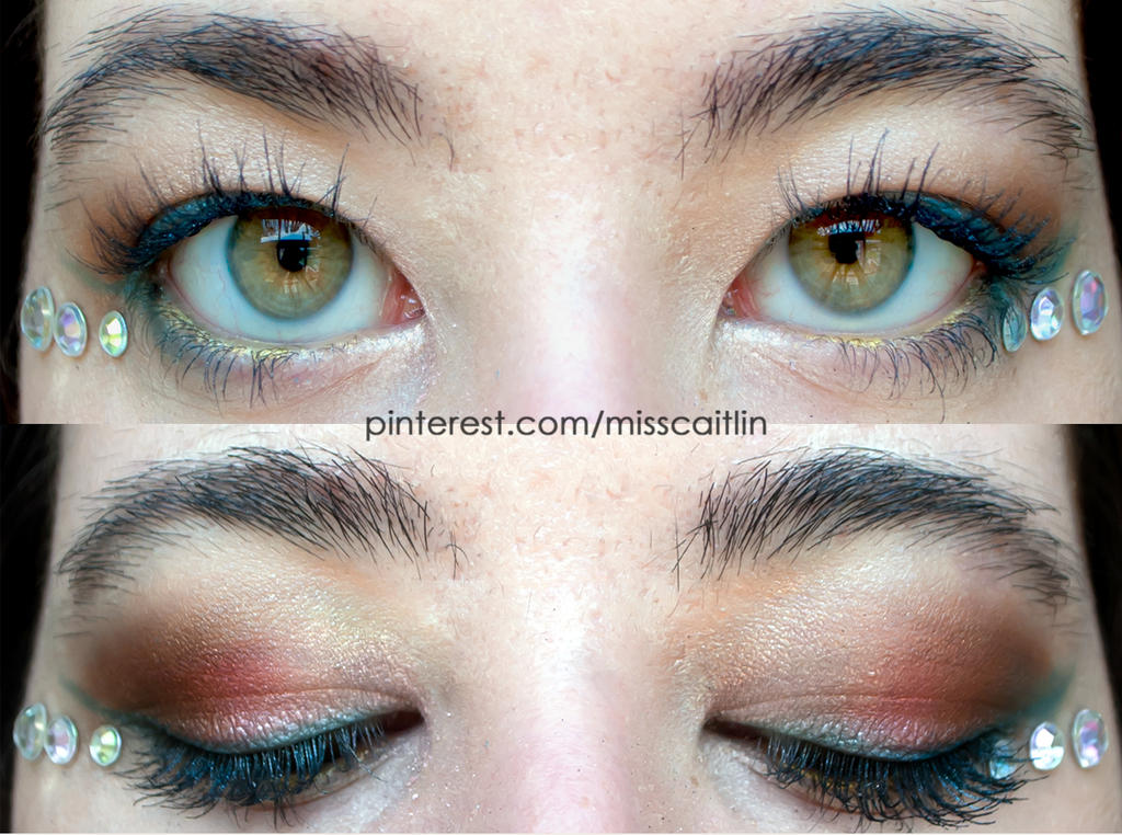 coraly pink makeup by Apeanutbutterfiend
