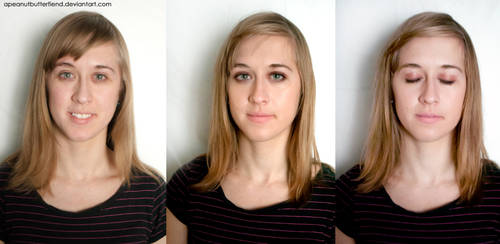 Before and After makeup-Grace by Apeanutbutterfiend