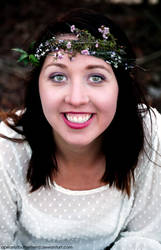 Flower Crown photoshoot-Faith by Apeanutbutterfiend