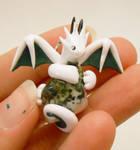 Tree Agate Dragon Pendant