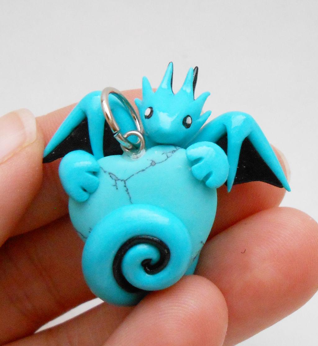 Turquoise Dragon Heart Pendant