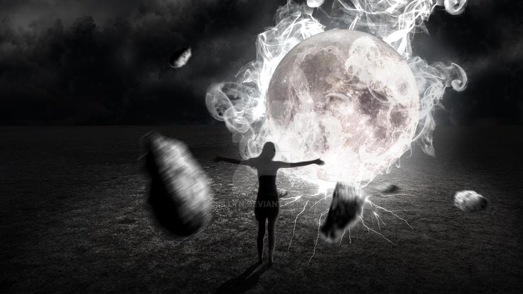 The fallen moon by Crillyn