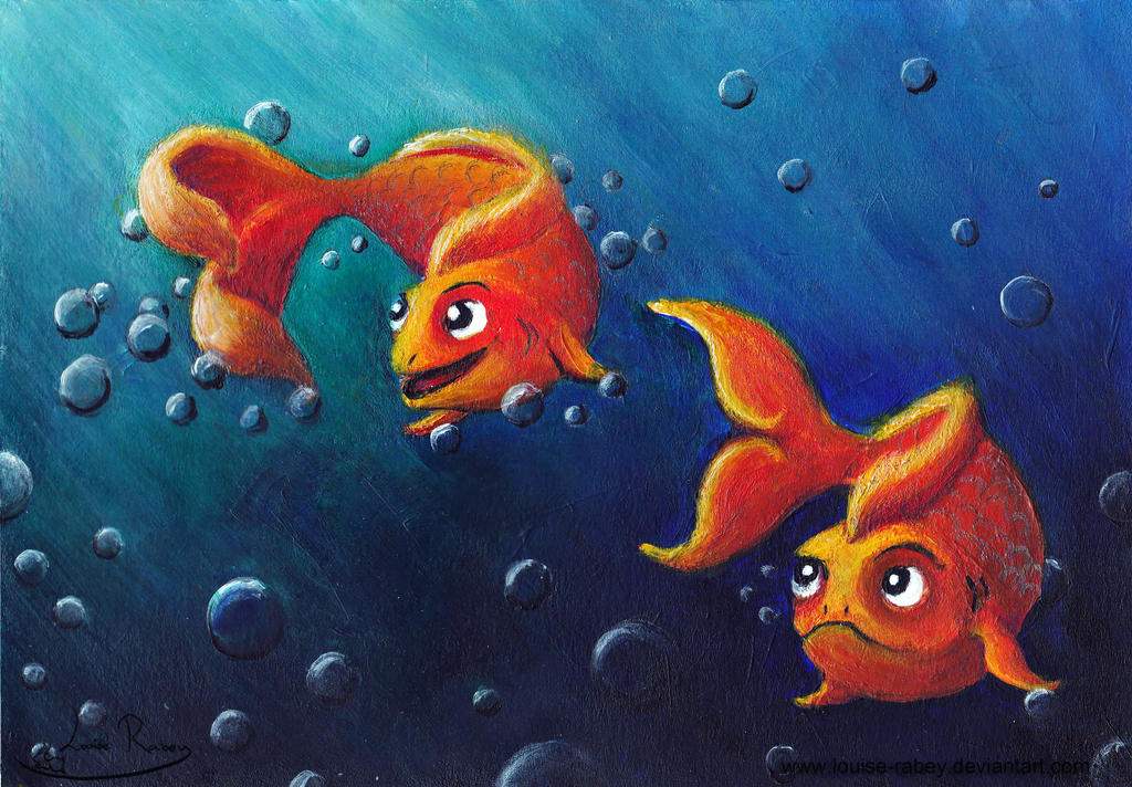 Quickie Illustration - Fishy Tales by louise-rabey