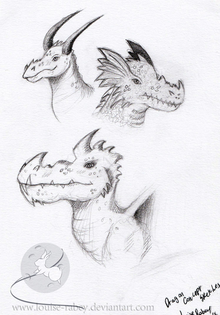 Dragon Concept Sketches by louise-rabey