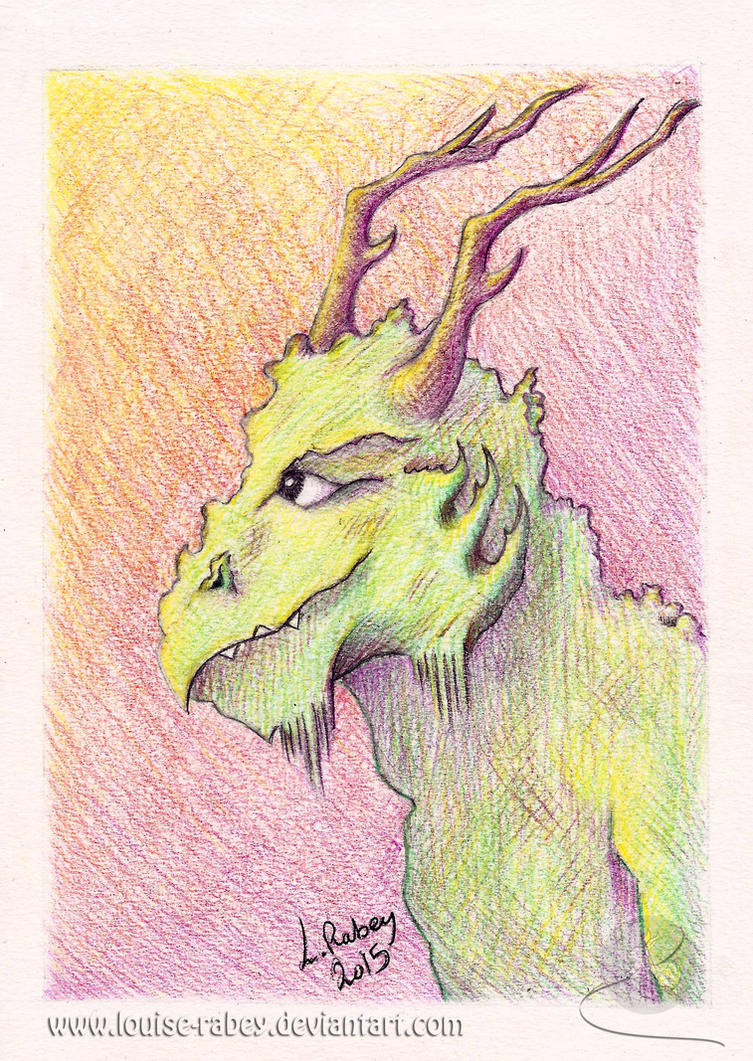 #01 - Earth Dragon Portrait by louise-rabey