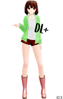 MMD model Chara StoryShift [DL+] (added the pants) by poi789