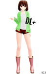MMD model Chara StoryShift [DL+] (added the pants)