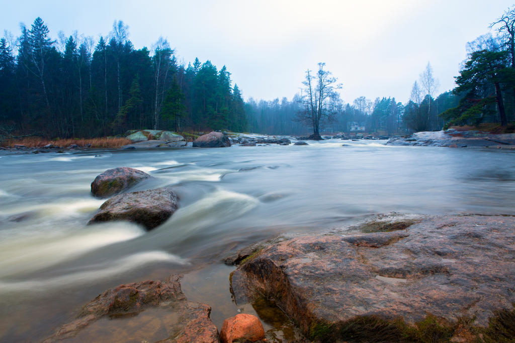 Rapid of Langinkoski on the Kymi river by olgaFI
