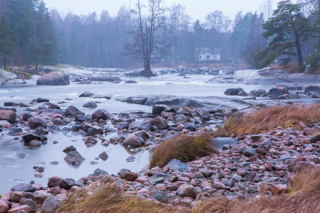 Kymi river in November by olgaFI