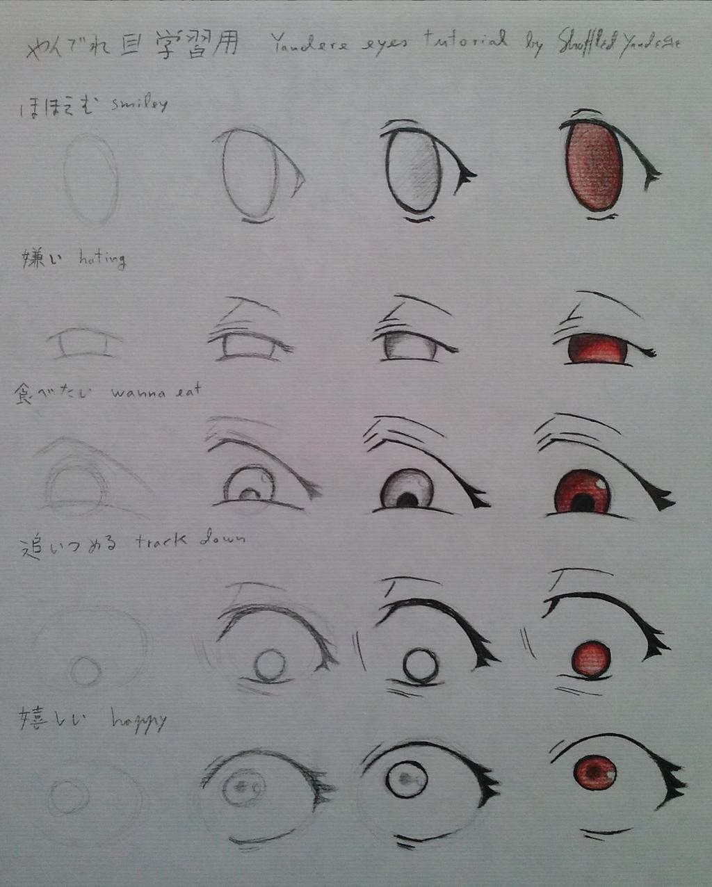 Yandere Eyes Tutorial by ShuffledYandere on DeviantArt