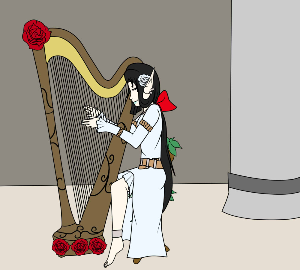 how to play the harp