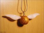 polymer clay golden snitch