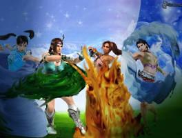 Tekken elements(girls) by Lingxiaoyn