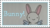 Bunny stamp by thebluemaiden
