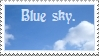Blue sky stamp by thebluemaiden