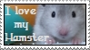 I love my hamster stamp by thebluemaiden