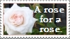A rose for a rose stamp by thebluemaiden