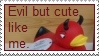 Evil but cute stamp by thebluemaiden