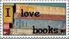 I love books stamp by thebluemaiden