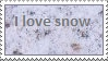 I love snow stamp by thebluemaiden