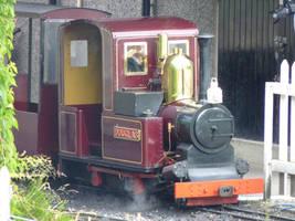 mini steam train from wales