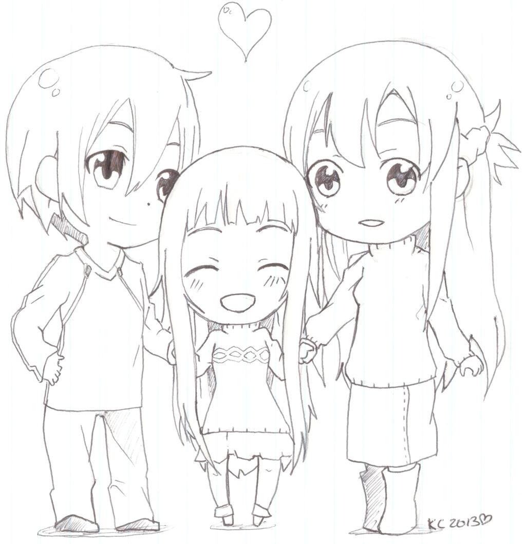 Sword Art Online SAO Chibi Family
