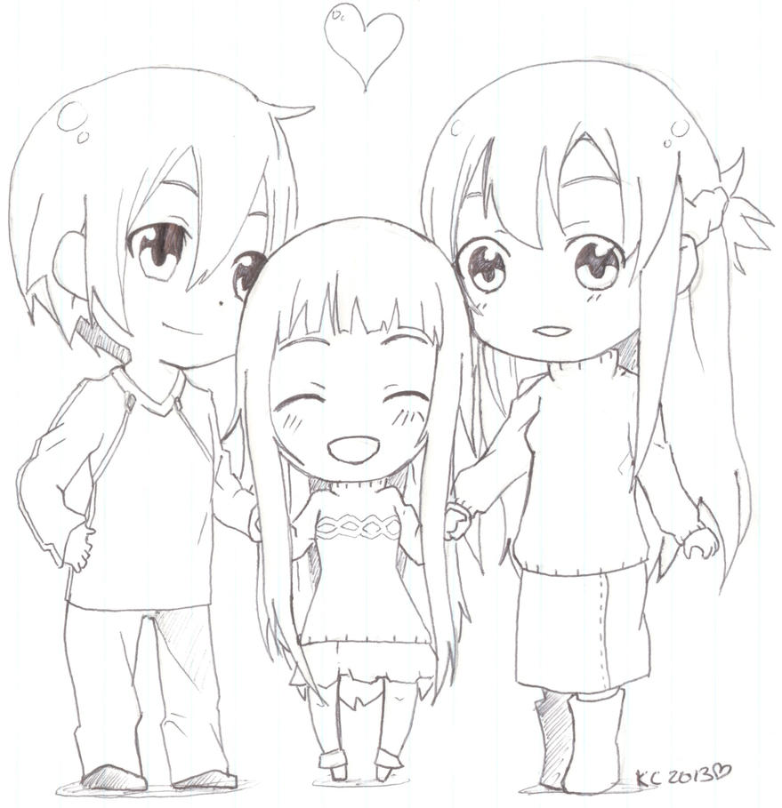 Sword Art Online Sao Chibi Family By Kitsune Kari On