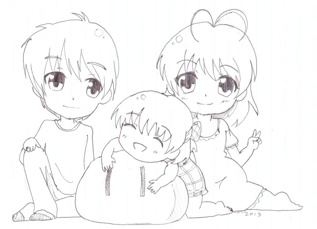Chibi Clannad Family Dango Daikazoku By Kitsune Kari On Deviantart