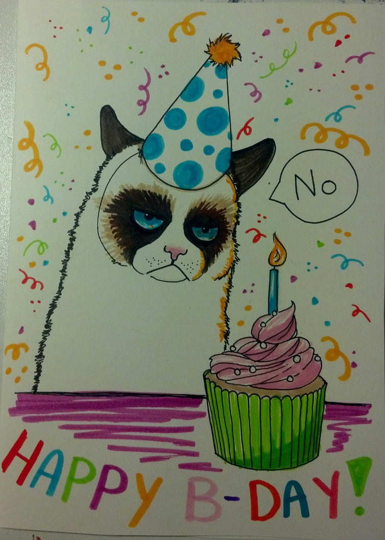 Happy Birthday No Grumpy Cat Images & Pictures - Becuo
