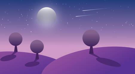 A Purple Night - VECTOR ART