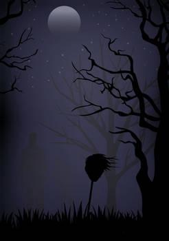 Spooky Night Scene - VECTOR ART