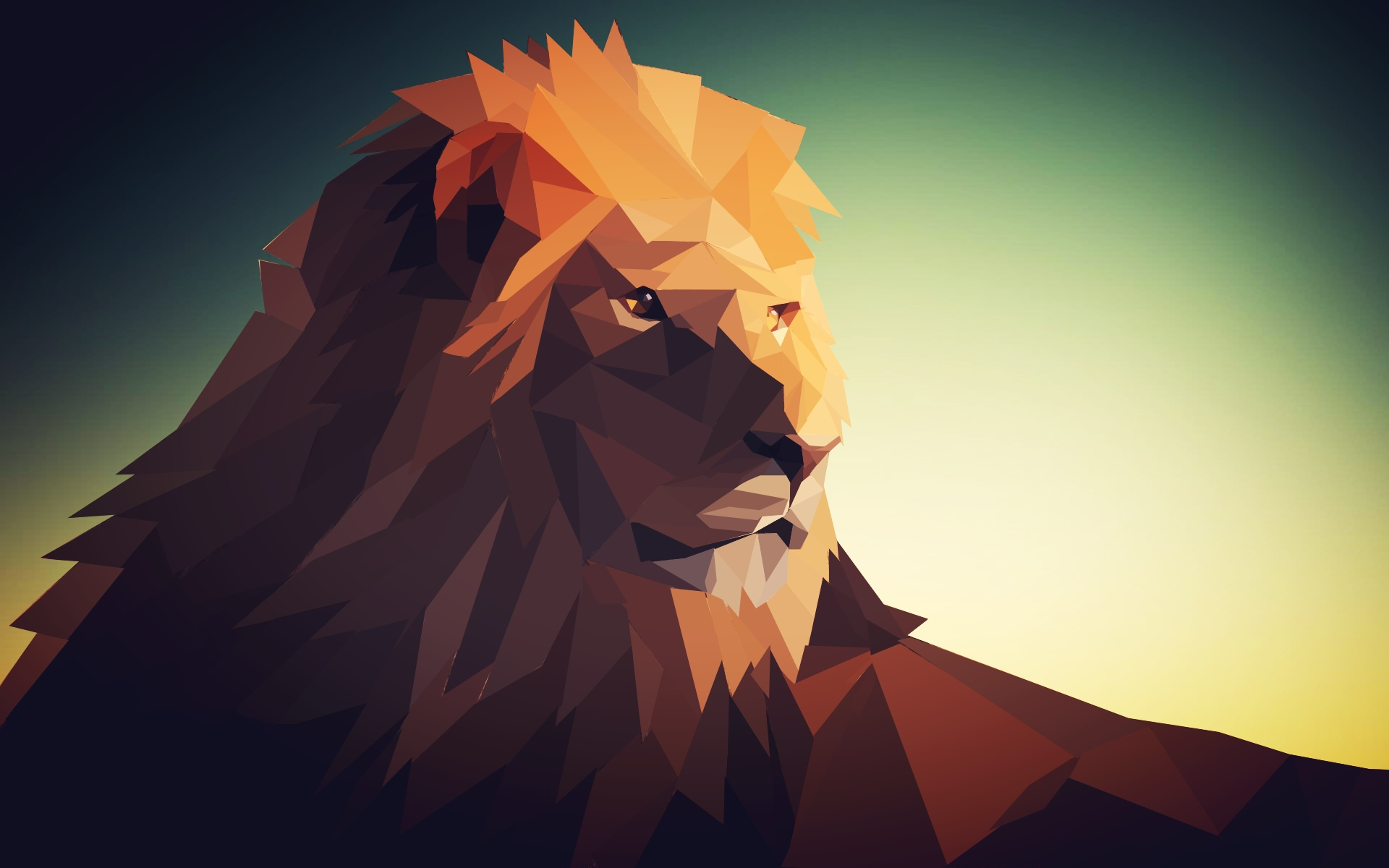 low poly lion by masternatho on deviantart. Black Bedroom Furniture Sets. Home Design Ideas