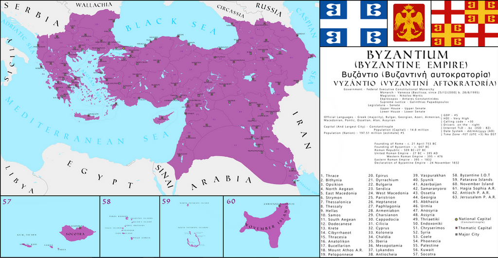 on map of byzantine empire