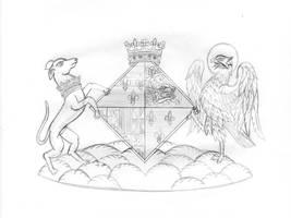 [SKETCH] Arms of Mary Tudor