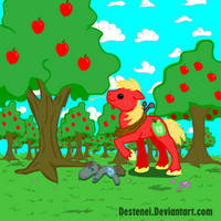 A proud apple farmer by Neyonic