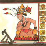 Throned Maya Ruler