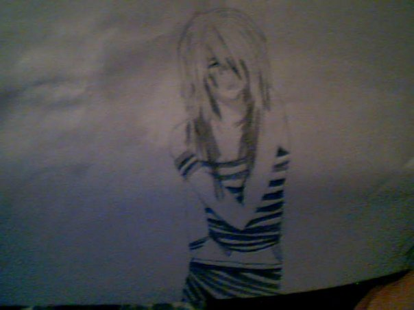 My drawn emo girl by surrender the rose on deviantart - Emo rose pictures ...