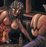A Zombie Slut and the Pumpkin by JINNdev