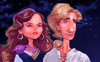 Guybrush and Elaine Caricature