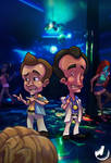 Larry Laffer and Larry Lovage by JINNdev