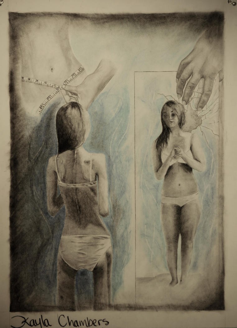 REFLECTION DRAWING by kaylazomglions on DeviantArt
