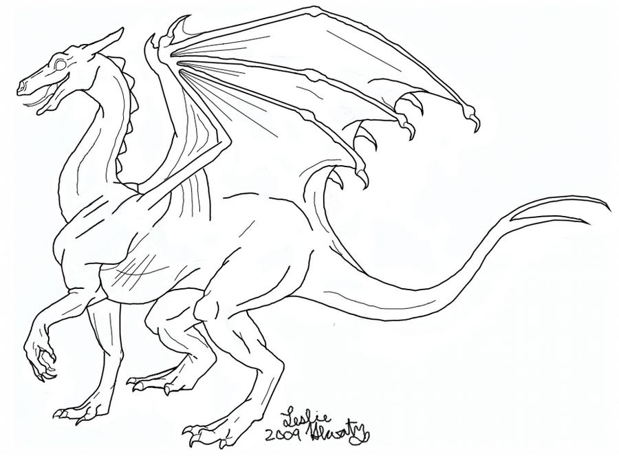 Dragon Lineart : Pernese dragon lineart by silverdragalos on deviantart